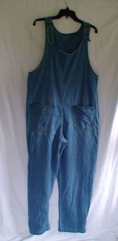 RETRO Moda International Farmer Jean Overalls Women's Size L See Measurements #ModaInternational #Overalls