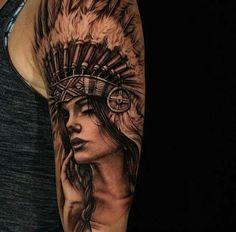 44 Ideas Tattoo Wolf Mann Native American For 2019 Wolf Tattoos, Tattoos 3d, Trendy Tattoos, Body Art Tattoos, Tribal Tattoos, Sleeve Tattoos, Tattoos For Guys, Tatoos, Indian Chief Tattoo