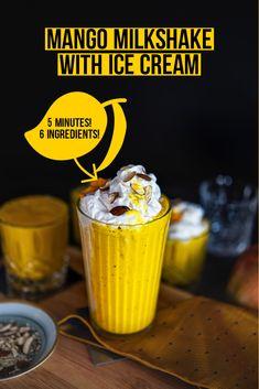 Mango Milkshake, Milkshake Recipes, Best Dessert Recipes, Indian Food Recipes, Healthy Recipes, Enchiladas, Guacamole, Saffron Threads, Brunch