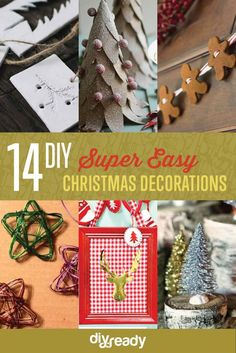 Easy DIY Christmas Decorations | Make Simple Christmas Decor , see more at: https://diyprojects.com/easy-diy-christmas-decorations-make-simple-christmas-decor/