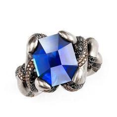 Otto Jakob, Kapok sapphire ring, diamonds, sapphire, 2015