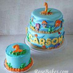 Bubble Guppies Birthday Cake and Smash