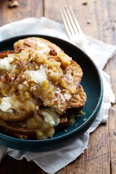 French Toast with Pear Chutney and Mascarpone -