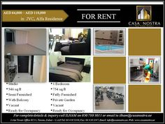 FRESH RENTAL UNITS OF THE WEEK!!! Your choice of studio or 1 bedroom apartment for rent in JVC, ALFA RESIDENCE! Call now to ILHAM for more details on 050-7893011 or email at ilham@casanostra.ae