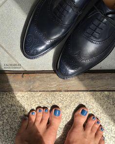 #blue #brogueshoes
