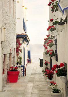 Walkway ~ Santorini , Greece