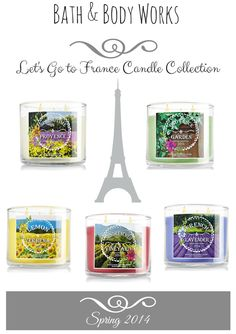 Bath & Body Works Let's Go to France Candles
