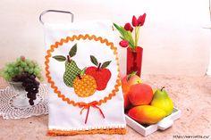Frutas en una toalla.  Patrón para el bordado (1) (700x466, 260Kb)