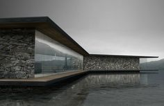 Antony Gibbon Designs, Lucent House, home design, translucent homes, lake homes, floating homes, glass homes, interior design, green design, stone homes, stone walls, made to order architecture, floating architecture, glass homes,