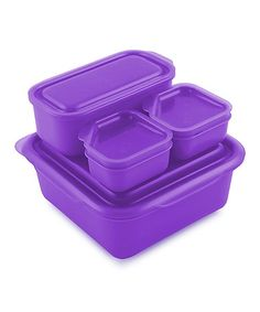 Love this Purple Portions-on-the-Go Lunch Box on #zulily! #zulilyfinds