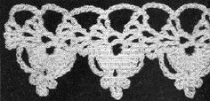 Bleeding Heart Edging Free Crochet Pattern - KarensVariety.com