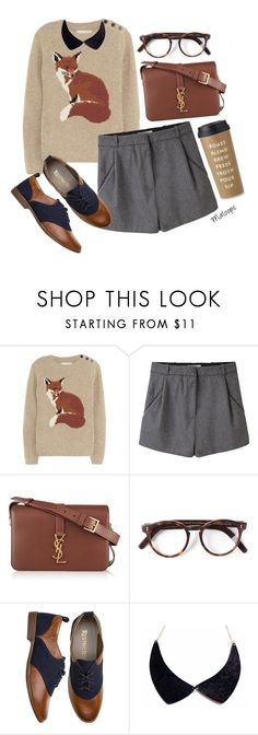"""""""//Why enjoy today when you could be worrying about tomorrow?- Spencer Hastings//"""" by maloops ❤ liked on Polyvore featuring Aubin & Wills, Acne Studios, Yves Saint Laurent, Cutler and Gross, Oxford, Kate Spade, preppy, pll and spencer"""