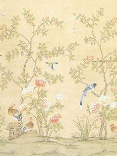 laura ashley papiertapete oriental garden chalk pink. Black Bedroom Furniture Sets. Home Design Ideas