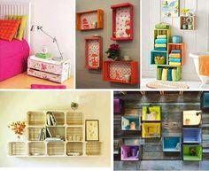 Apaixonada por caixotes. Dá pra fazer muita coisa legal com eles e a decoração da casa fica um charme!