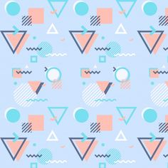 Memphis pattern with geometric shapes Free Vector Geometric Shapes Design, Geometric Lines, Geometric Background, Shape Design, Pattern Design, Design Art, Graphic Patterns, Print Patterns, Conception Memphis
