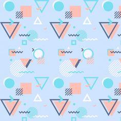Рисунок Мемфиса с геометрическими фигурами Бесплатные векторы