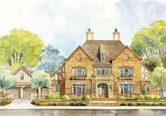Classic English Country Home Plan - 56144AD | 1st Floor Master Suite, Bonus Room, Butler Walk-in Pantry, Georgian, Jack & Jill Bath, Luxury, PDF, Photo Gallery, Premium Collection, Traditional | Architectural Designs
