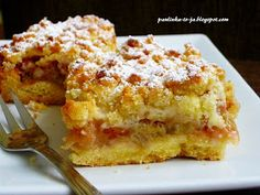 Gateau Cake, Rhubarb Cake, Polish Recipes, Polish Food, Sweet Pie, No Bake Cake, Cake Recipes, Good Food, Kuchen