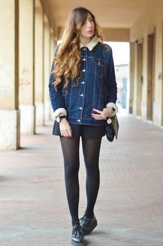 New outfit post on my blog. A denim and very comfy look. Now on: www.thespirald.com