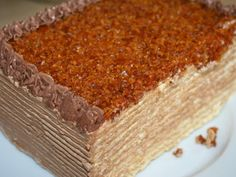Un tort deosebit de delicios dupa o reteta veche din anul Ingrediente Foile oua g zahar linguri faina Crema oua g zahar Hungarian Desserts, Romanian Desserts, Romanian Food, Dobos Cake Recipe, Sweet Desserts, Delicious Desserts, Sweet Bread, Cakes And More, Something Sweet