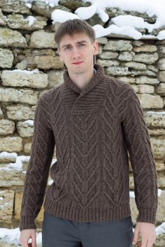 Ravelry: 387 - Pull col chale pattern by Bergère de France