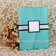 EA949---tiffany blue pocket fold wedding invitations