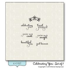 Celebrating You - Verve Stamps Inspiration Gallery