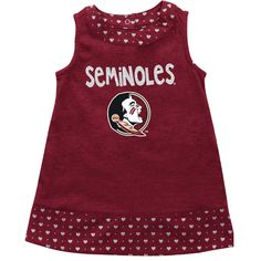 Florida State Seminoles Colosseum Girls Infant Heartbeat Dress & Bloomer Set - Garnet