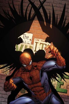Amazing Spider-Man Issue Comic book cover showing Peter Parker as Spider-Man getting ready for a fight made by creative artist Giuseppe Camuncoli. All Spiderman, Amazing Spiderman, Marvel Comic Character, Marvel Characters, Marvel Dc Comics, Marvel Heroes, Heros Comics, Marvel Entertainment, Spider Man
