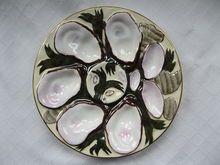Vintage C Tielsch Porcelain Oyster Plate Fabulous Colors