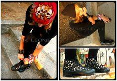'Be yourself because an original is worth more than a copy''.. Custom Converse All-Star-Leather Cuffs and Ring Created By Mark Leone ® Μερικές ακόμα δημιουργίες μας ξεκίνησαν να βρούνε το δρόμο τους για το άτομο που τις επέλεξε... Βρεiτε το αγαπημένα σας σχέδια μέσα απο την πλούσια συλλογή μας!Για παραγγελίες ,η για οποιαδήποτε άλλη πληροφορία στείλτε μήνυμα στη σελίδα μας. For more details ,orders or further information about our creations please send us an inbox message. Custom Converse, Converse All Star, Stars, Star
