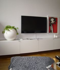 Album - 4 - Banc TV Besta Ikea, réalisations clients (série 1) Hacks Ikea, Wardrobe Design Bedroom, Room Interior Design, Tv Cabinets, New Living Room, Decoration, Album, House Design, Tv Fireplace