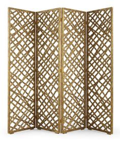 """Add artistic interest to an expansive wall, or divide a space with this stunningly fabulous """"lattice twig"""" pierced screen, carved from solid mahogany."""