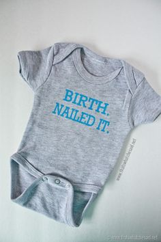 Super funny baby onesie!  Free cut file is provided to make your own!