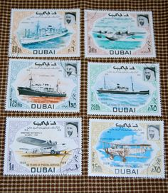vintage stamps/dubai