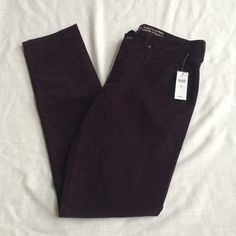 NWT Gap Always Skinny Plum Corduroy Pants Brand new with attached tags. Dark plum color. Size 8 regular. Retail $54.99. Price firm. GAP Pants Skinny
