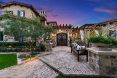 Step inside this stunningly beautiful French villa home in Arizona French Villa, Backyard, Patio, Luxury Kitchens, Luxury Homes, Arizona, Mansions, Interior Design, Nice