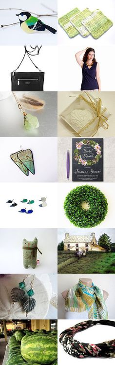 Green chickadee by Ms.B' on Etsy--Pinned with TreasuryPin.com