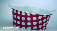 She's {kinda} Crafty: Fabric {Covered} Buckets!