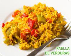 Paella de verduras - vegana