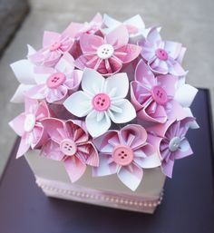 Karlis- Blue flowers instead and with a brown satin ribbon tied around the jar. :) Baby Shower Centerpieces - Baby Pink/Blue. $15.99, via Etsy.