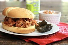 Slow Pulled Pork Sloppy Joes