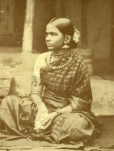 Tribal girl with traditional jewelry