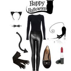 DIY Black Cat kostuum.