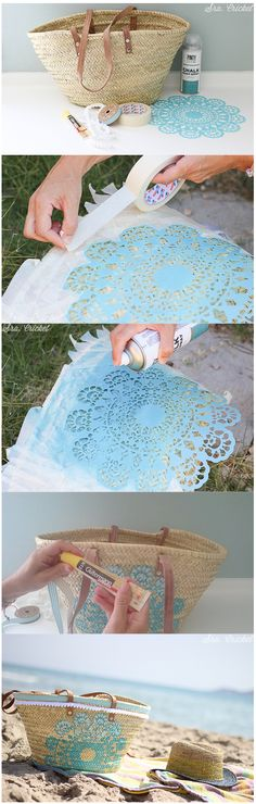 Ideas For Basket Diy Straw Diy Straw, Diy And Crafts, Arts And Crafts, Diy Y Manualidades, Diy Accessories, Handmade Bags, Diy Art, Diy Clothes, Diy Fashion
