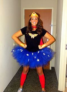 A Great and Easy DIY Wonder Woman Costume -- Plus this site has other fun/easy costumes