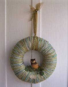 owl wreath @Cristina Kubicki