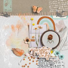 Rise and shine! There is always a new day to start again. Amazing layout by Cindy, created with the Early Birds collection by Pixel Giraffe Design. Ear Parts, Positive Vibes Only, Early Bird, Digital Scrapbooking, Giraffe, Digital Art, Artsy, Layout, Creative