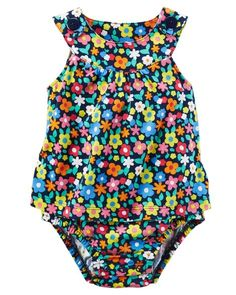 6 Months OshKosh Baby Girls Super Skinny Floral Stretch Twills