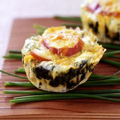Weight Watchers Recipe - Bacon, Egg and Spinach Breakfast Stacks